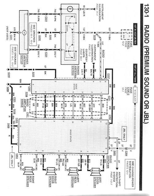 1993 ford explorer speaker wire diagram
